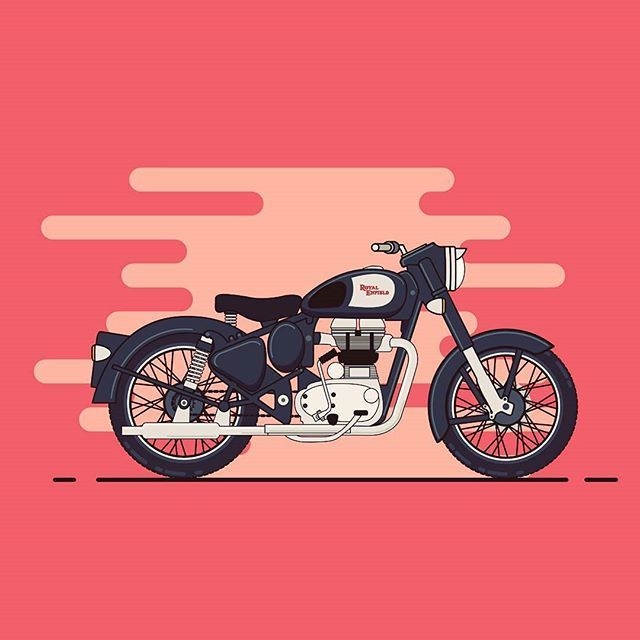 from @rajchozhiath - My ride... #royal #enfield #royalenfield #vectorart #motorbike #icon #illustration #adobe #illustrator #instaart #flatdesign #vector #art #bullet