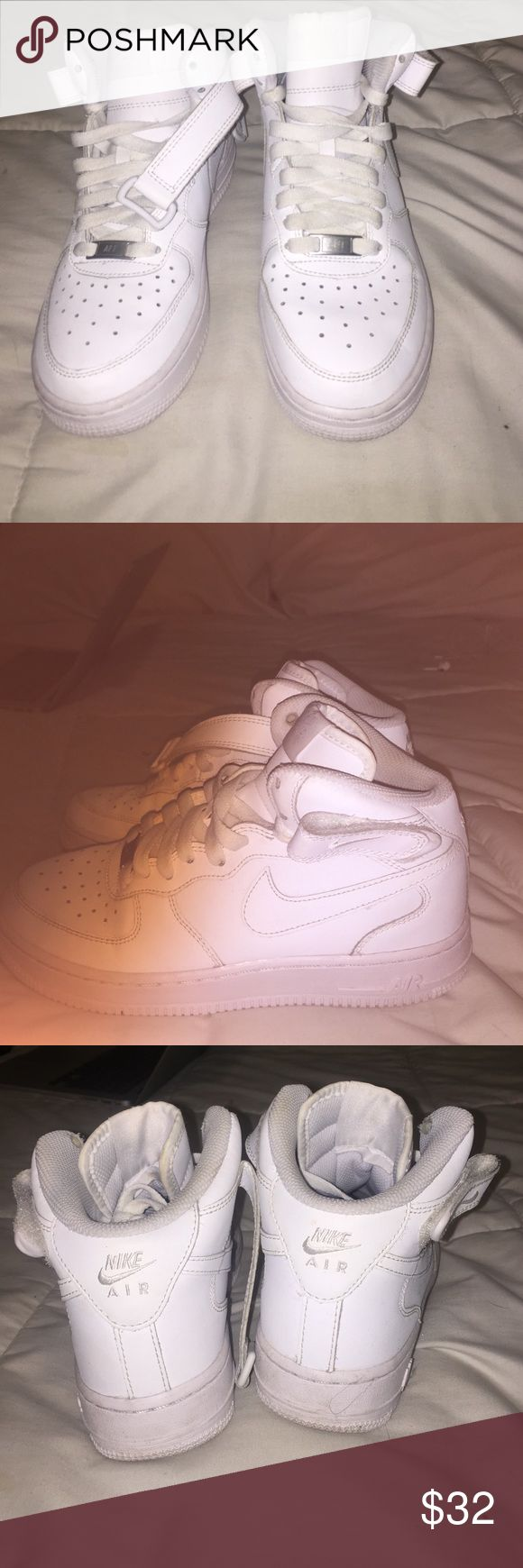 High top Nike air forces Never worn air forces(runs big) Nike Shoes