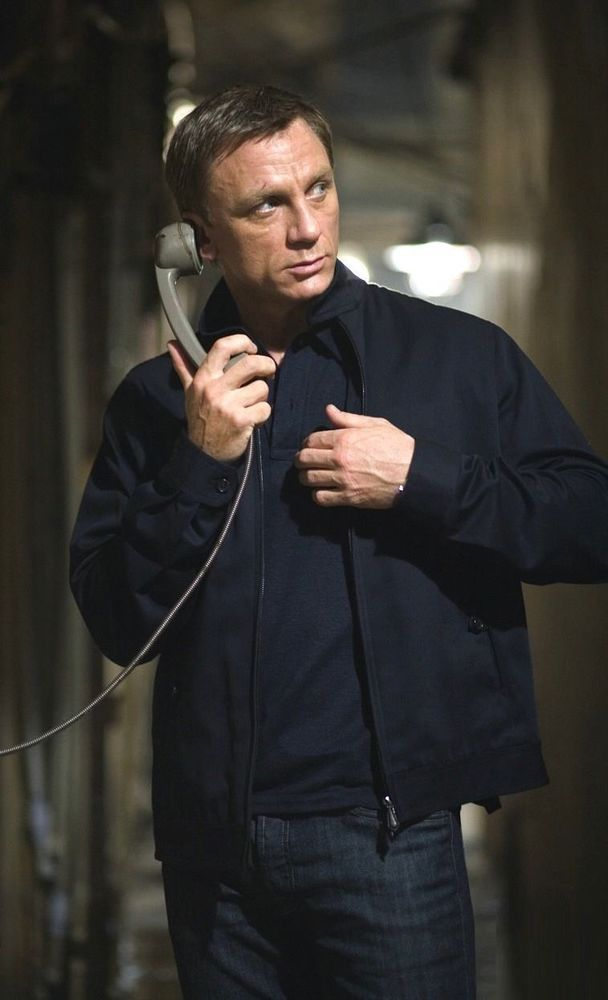 SPECTRE James Bond knitted sleeve bomber jacket Daniel Craig Bomber Jacket
