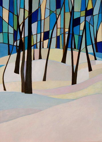 """Winter""_acrylic painting"