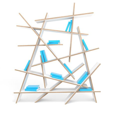 Plywood Bookcase CRASH By Sixinch Design Rainer Mutsch