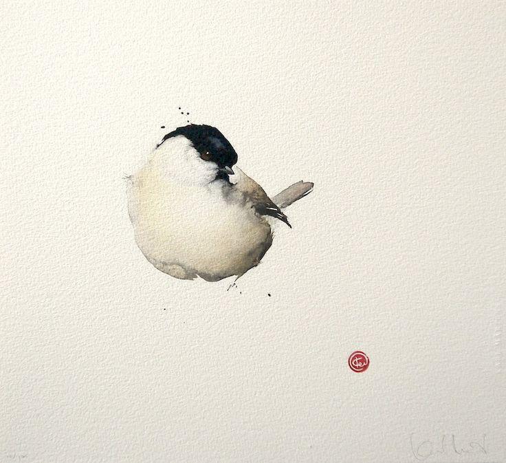 Karl Mårtens(Swedish b.1956)little round white bird