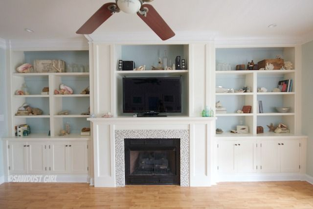 Fireplace Wall Built-ins - Courtney Reveal   For the Home ...