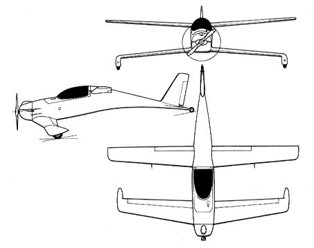 An Old Favorite Of Mine Burt Rutans Single Seat Homebuilt Plane