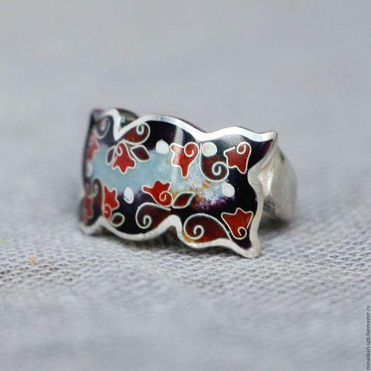 """Кольца ручной работы. Ярмарка Мастеров - ручная работа. Купить СКИДКА 30% Кольцо """"Зимнее утро"""" из серебра с эмалью. Минанкари. Handmade."""