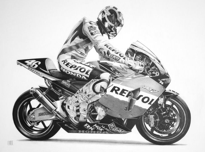 Racing Cafè: Motorcycle Art - Bob Kenary