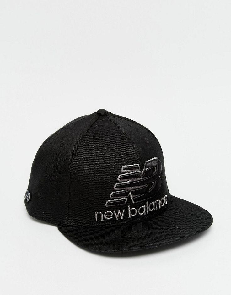 Cool New Blance Courtside Snapback Cap - Black New Balance Accessories til Herrer i luksus kvalitet