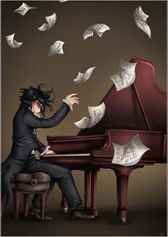 Música ♪♫♥ Piano.....La música es el corazón de la vida. Por ella habla el amor; sin ella no hay bien posible y con ella todo es hermoso. Franz Liszt #lamusa #instrumentos #musica #instrumentos