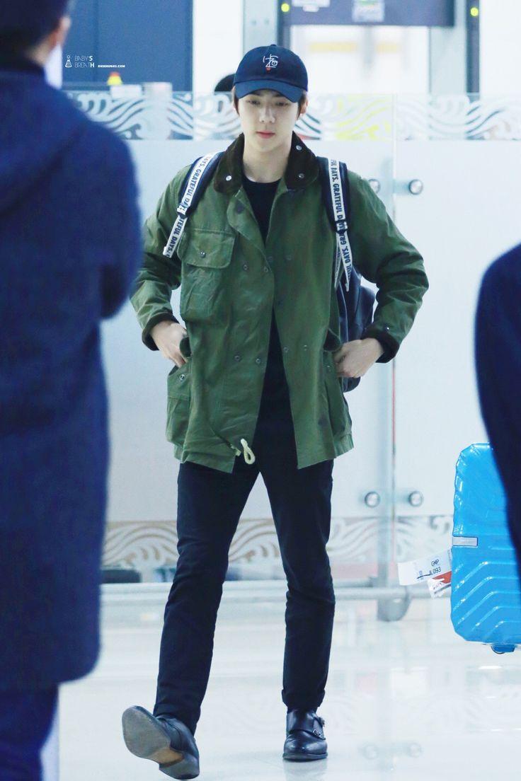 160201 EXO Sehun   Haneda Airport to Gimpo   Airport Fashion ✈️