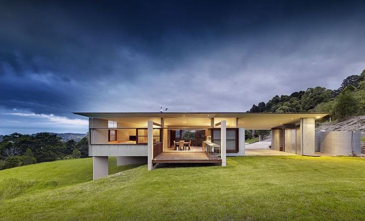 Foxground House on the south coast of NSW by Fergus Scott Architects