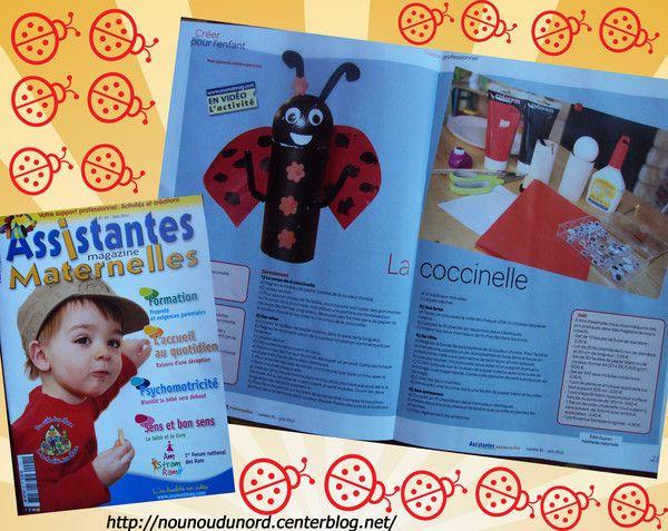 coccinelle que j'ai réalisée pour le magazine assistantes maternelles N° 91 du mois juin 2012 http://nounoudunord.centerblog.net/4152-creations-dans-le-magazine-assistantes-maternelles-n-128