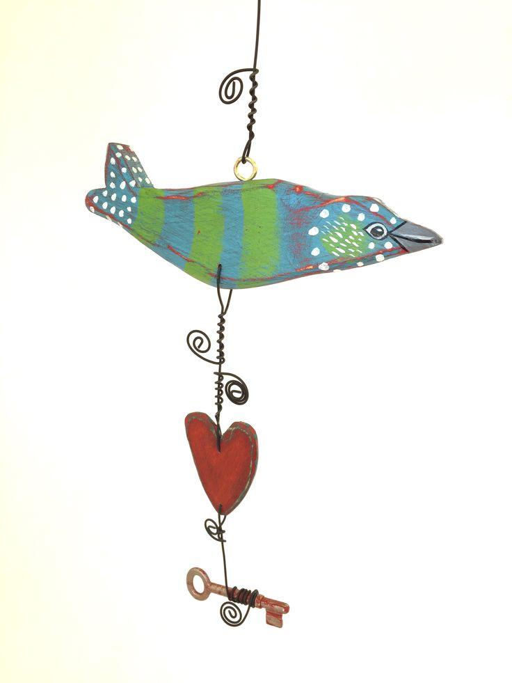 Atelier de Joie Flying Bird Heart Key
