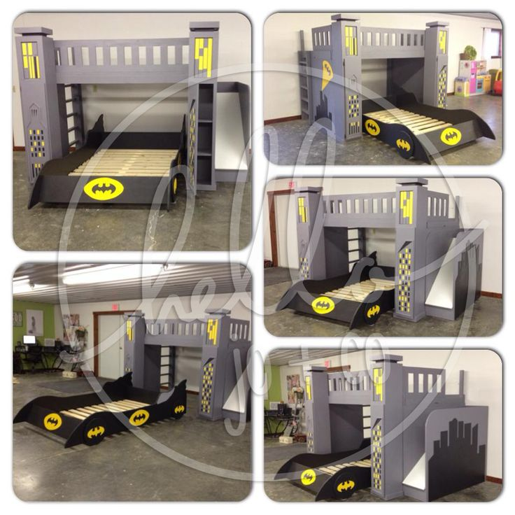 Boys Superhero Bedroom, Superman Bed And Batman