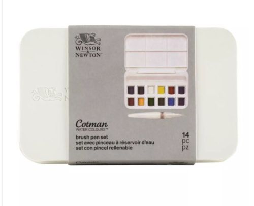 Paint 183102 Winsor And Newton Cotman Water Colours Brush Pen Set