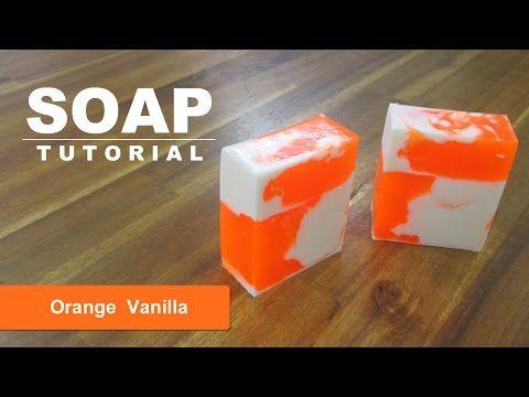 Orange Vanilla, Melt and Pour Soap Tutorial, Soap Swirls Part 2 - YouTube