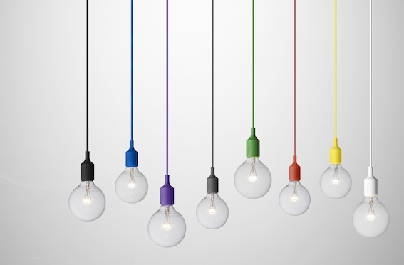 E 27 lamp by Muuto in diverse colors. Available at Tempo Berlin http://www.tempoberlin.com