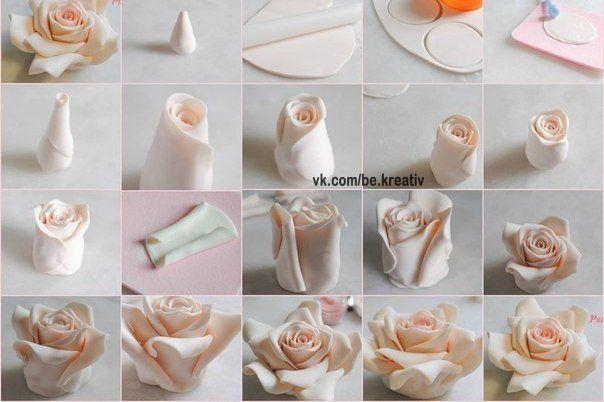 Делаем розы из полимерной глины - Лепка