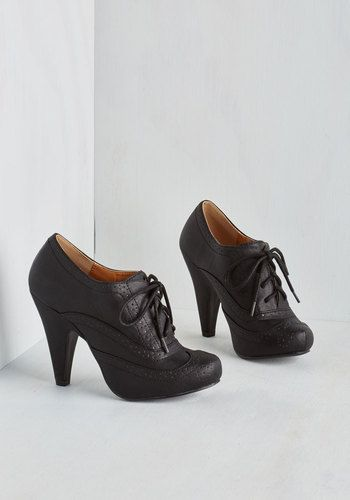 the latest 6fe83 7b607 Flying First-Sass Heel in Black - High, Faux Leather, Black, Solid