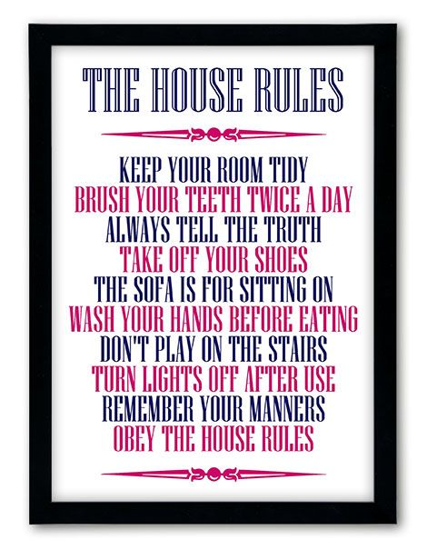 Add some style & fun to your home with our quirky Personalised House Rules design.. It makes a fabulous personalised gift, for Christmas, bi...