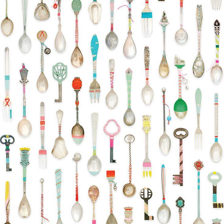 studio ditte / Teaspoons Wallpaper | 輸入壁紙専門店 WALPA