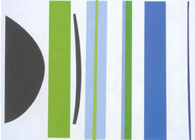 Blue And Green Verticals a limited edition print by Terry Frost