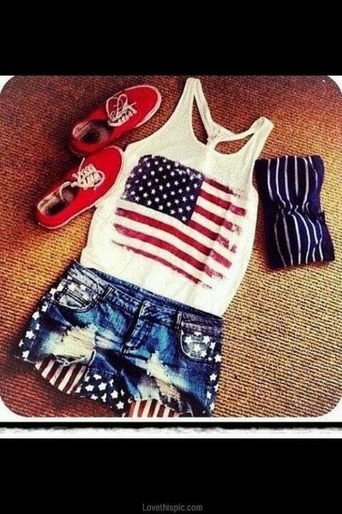 Patriotic Outfit fashion usa flag america patriotic red white blue starsandstripes july 4th