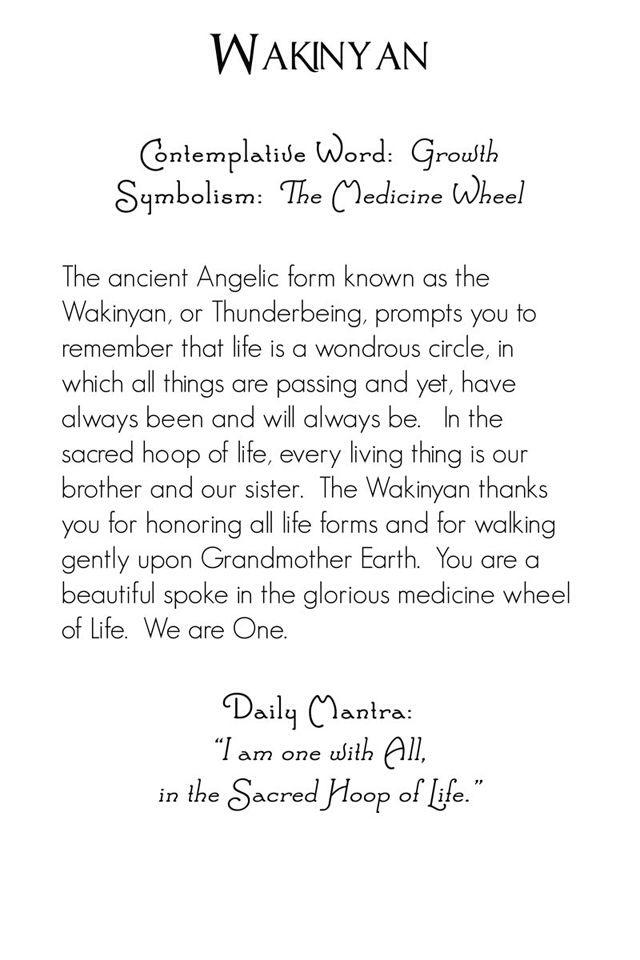 Archangel Wakinyan   back   Mystic Angels Oracle 15