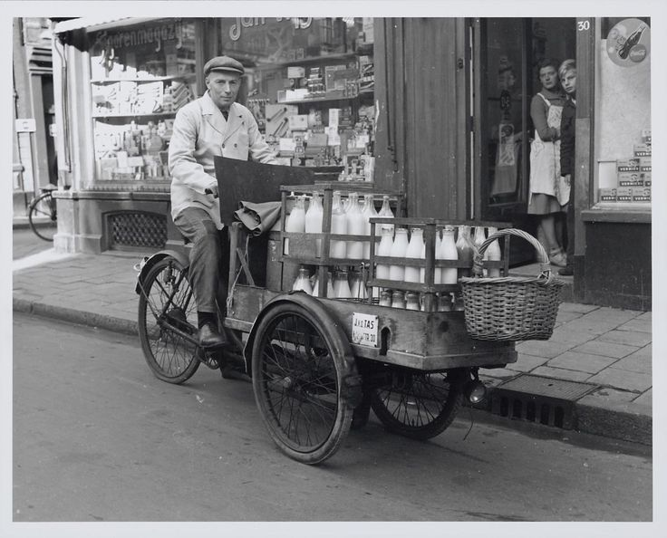 De melkboer - the milkman , the Netherlands, in the fifties.