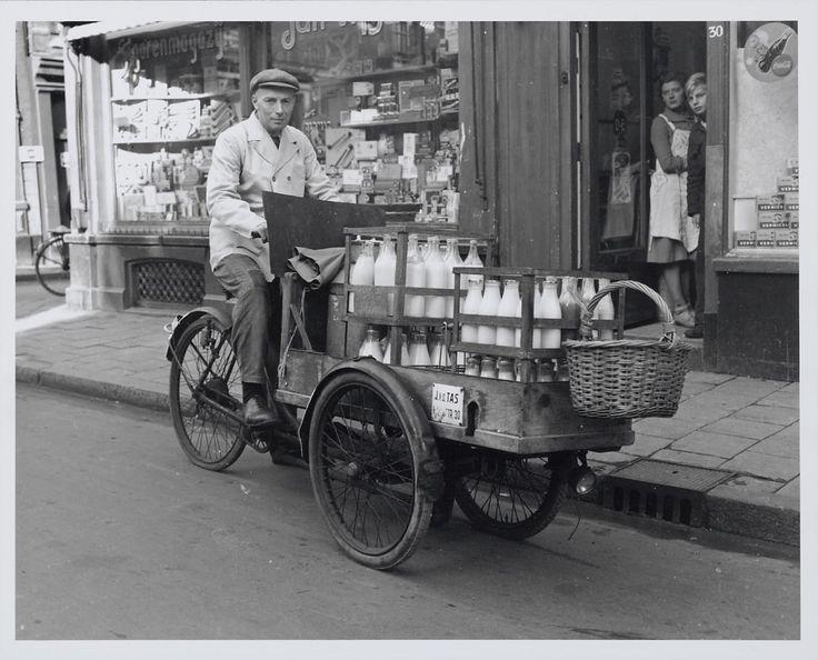 De melkboer - the milkman , the Netherlands, in the fifties.