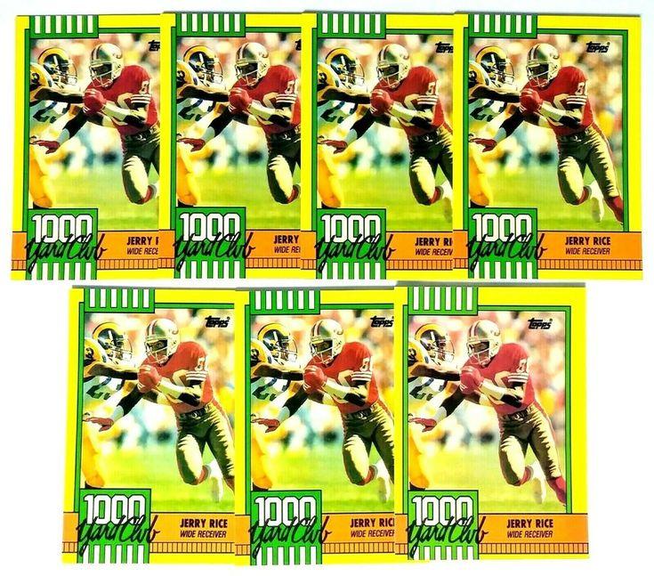 7 1990 jerry rice 1000 yard club insert cards hof 49ers