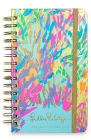 """Lilly Pulitzer Sparkling 17-Month Medium Daily Agenda.  These useful and unique daily agendas are full of frisky fun. Made of wood-free paper and accented with an allover print.8.25""""W x 5""""H x 1.25""""D.Grey board/paper/wire. Elastic strap closure.  #ad"""