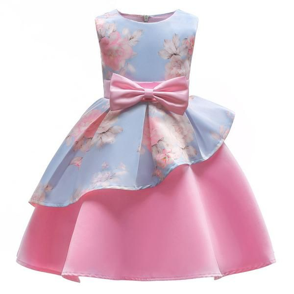 Elegant Flower Girls Wedding Dress Summer Baby Girls Princess Dress Kids Party Dresses For Girls Clothing Children Costume