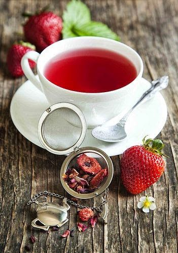 "my-very-own-life-in-the-woods: ""Strawberry tea… """