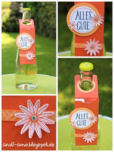 andi-amo Anleitung für Flaschenhänger mit Fach für 3 Amicelli auf www.andi-amo.blogspot.de #Stampin Up #Flaschenhänger #So dankbar #Perfekt verpackt