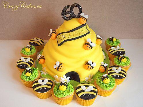 Baby beehive cake