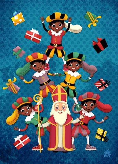 miriam-bos-copyright-illustration-postcard-sinterklaas-piramide.jpg (400×555)
