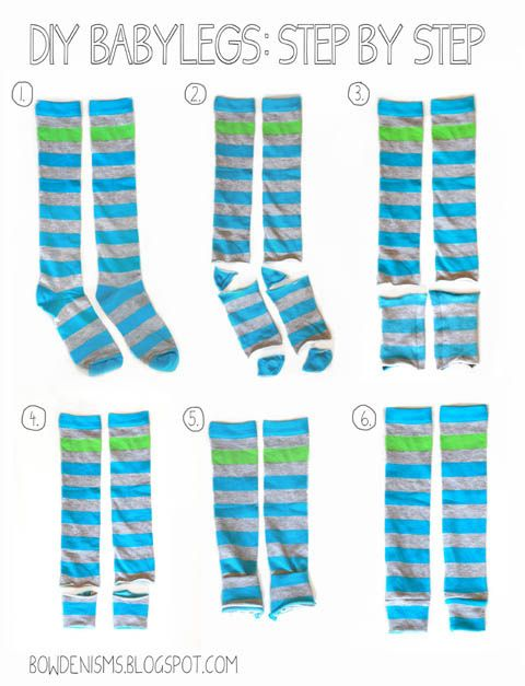Step by Step: How to Make Babylegs {from socks}  #baby #diy....need to find some prints and colors that work for boys :)
