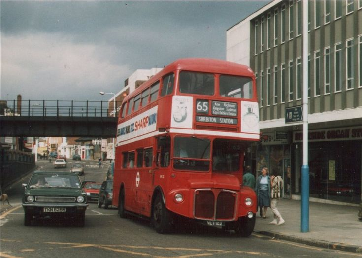 No. 65 to Ealing Broadway - my old school bus!  http://www.londonbuses.co.uk/051-100_images/065_RM23.jpg