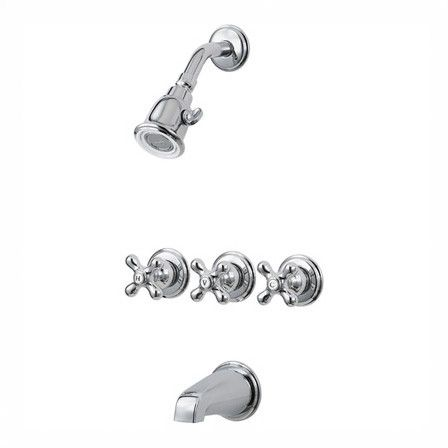 Pfister Pfister Tub & Shower Faucet with Metal Cross Handles