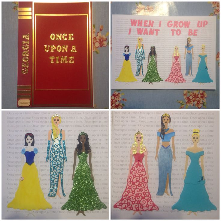 Tattered lace Bella die. Story book card, Disney princess card. New baby card.