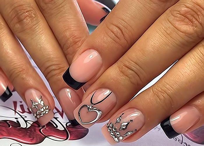 Корона дизайн на ногтях