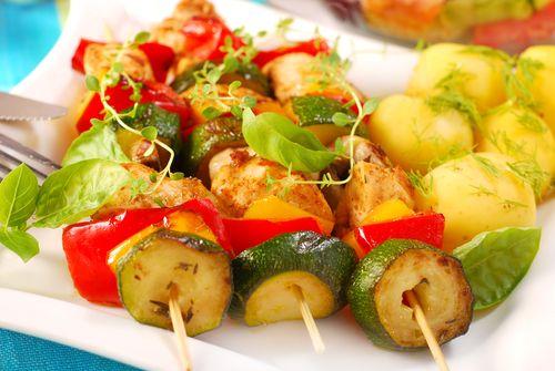 Kuřecí špízy se zeleninou – COOP Club