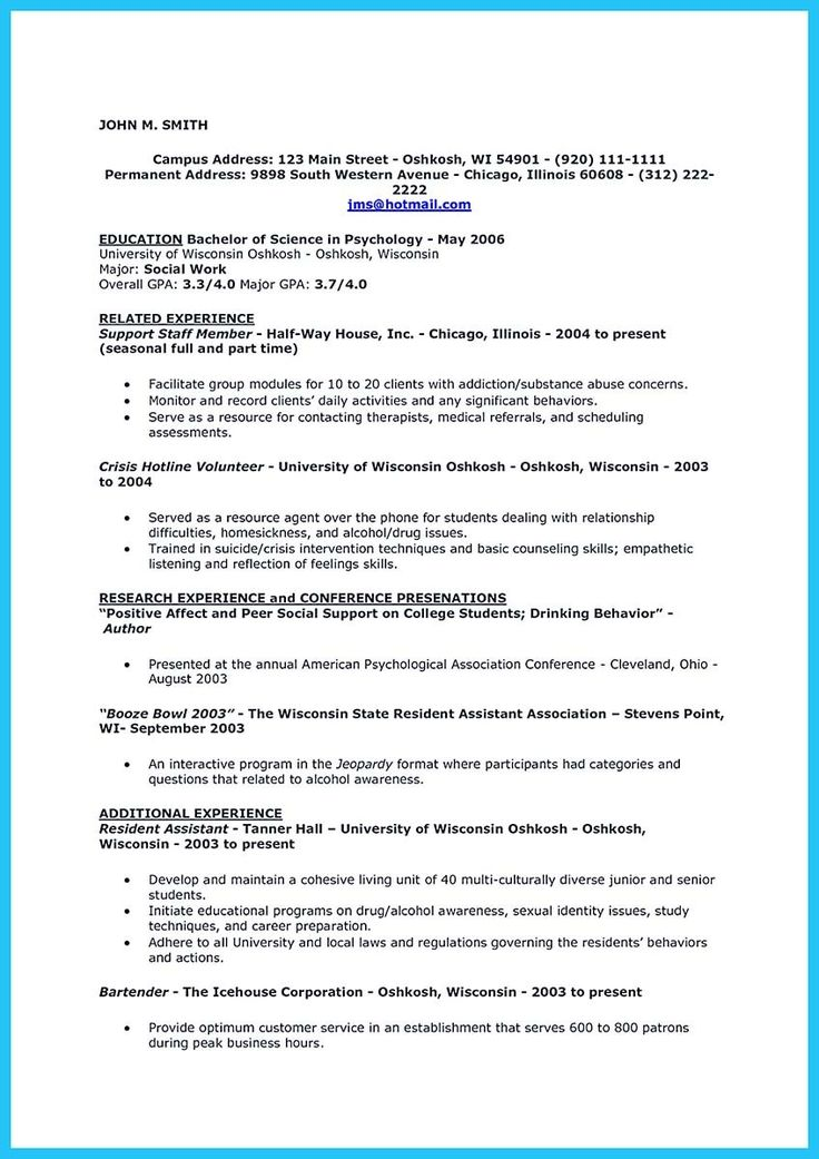 bartender resume templates a resume sample edgar sample of a