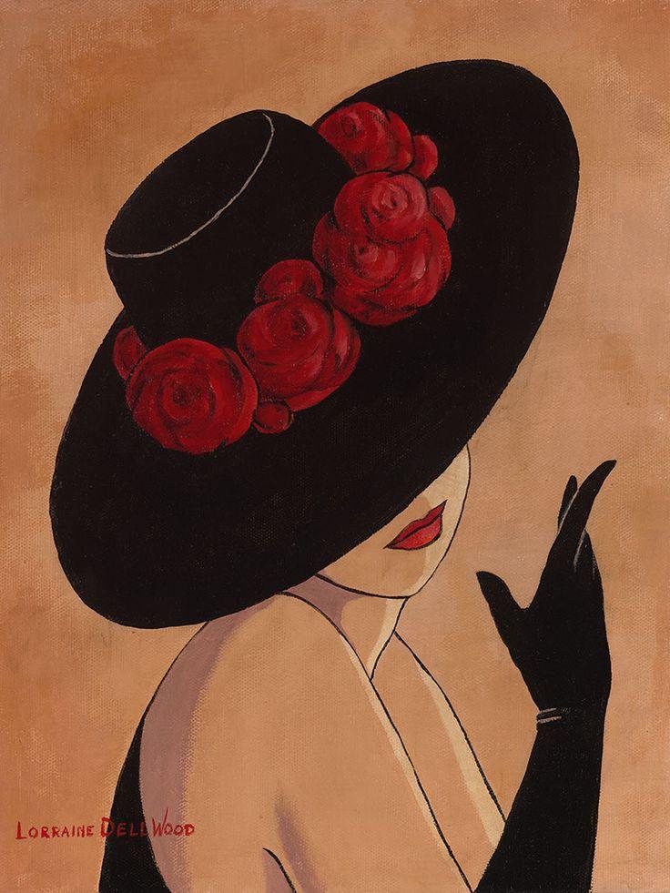 Ода шляпе и той даме, на которой эта шляпа. Художница Lorraine Dell Wood. Обсуждение на LiveInternet - Российский Сервис Онлайн-Дневников