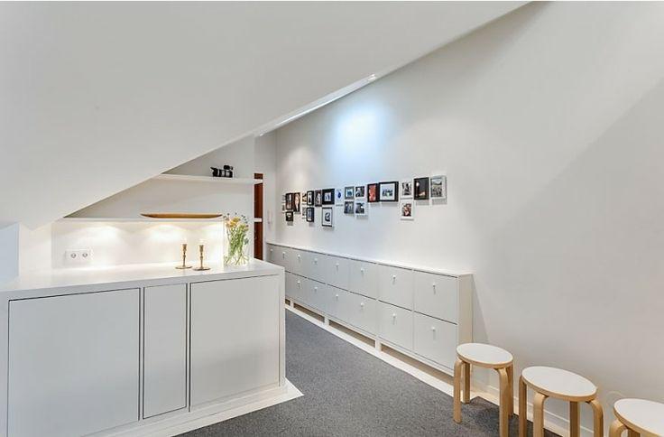 Apartments, Apartment Home Interior Design Chest Of Drawer Candle Holder Desk Drawer Wall Photo Frames Shelves Flower Vase Grey Carpet Wall ...