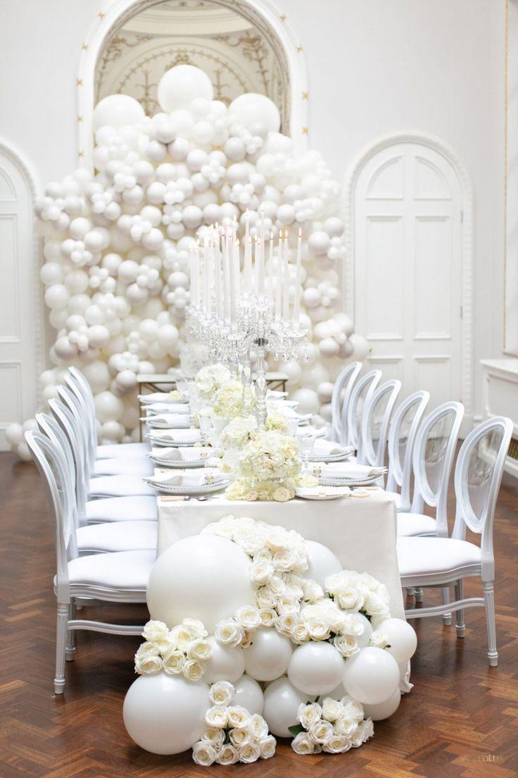 Pearlencia - WedLuxe Magazine  #whitewedding #weddinginspo #reception