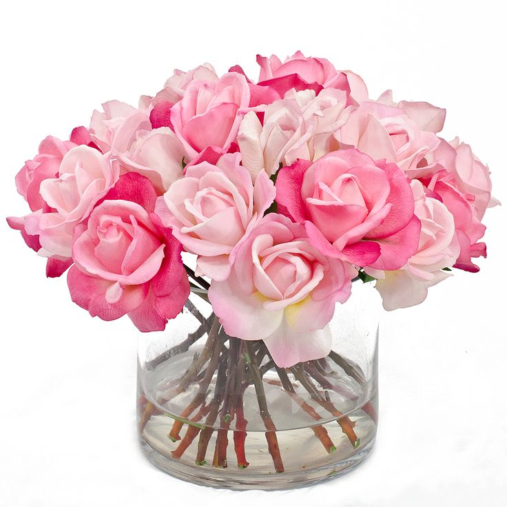 90 best real touch flowers images on large real touch pink rose arrangement faux flowers mightylinksfo Gallery