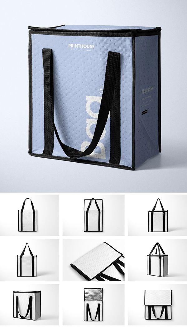 Download Insulated Cooler Bag Mockup Set Bag Mockup Packaging Mockup Box Packaging Design