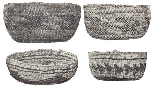 Shasta Indian Baskets. From The Shasta by Roland Dixon