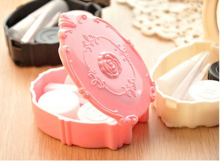Aliexpress.com : Buy 3 Color.Vintage Roses luxury Porfessional Pocket Mini Contact Lens Case.Travel Kit Easy Carry Container Holder.Free shipping from Reliable shipping container suppliers on P!nk Studio